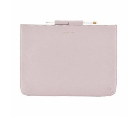 Housedoctor Cover Ipad Pro pink leather / cotton 35,5x26,5cm