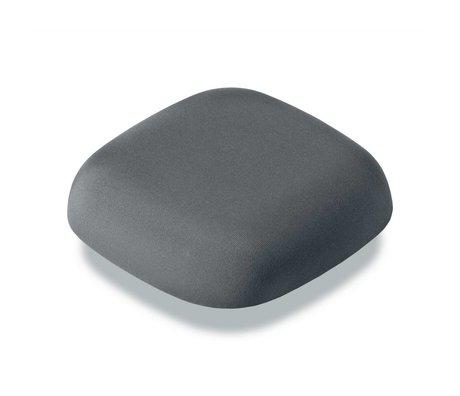 Jalo Smoke detector Kupu 10 dark gray plastic 11x11x3,9cm