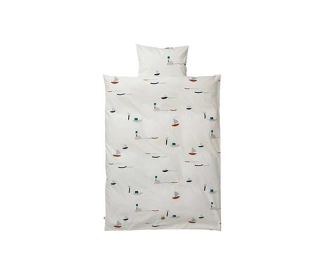 Ferm Living kids Children's Well-Seaside multicolour cotton 70x100cm 46x40cm