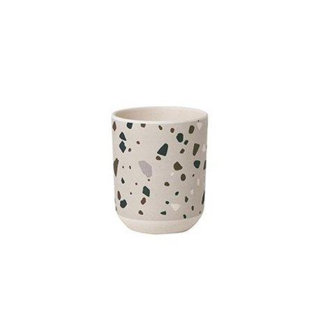 Ferm Living kids Children's cup Terrazzo gray bamboo ø7,5x9cm