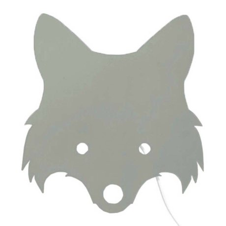 Ferm Living kids Kinderwandlamp Fox dusty groen hout 30x22,5cm
