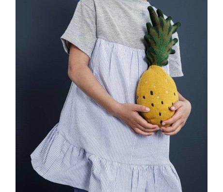 Ferm Living kids Copper fruiticana Pineapple cotton 38x17cm