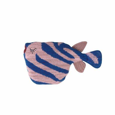 Ferm Living kids Knuffel fruiticana Stripy Fish katoen 27x27x12cm