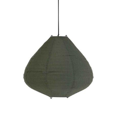 HK-living Kinderlampion leger groen katoen 50cm
