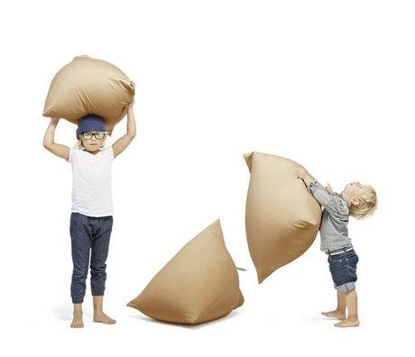 Terapy Children Beanbag Sydney pyramid sand / brown cotton 60x60x60cm 130liter