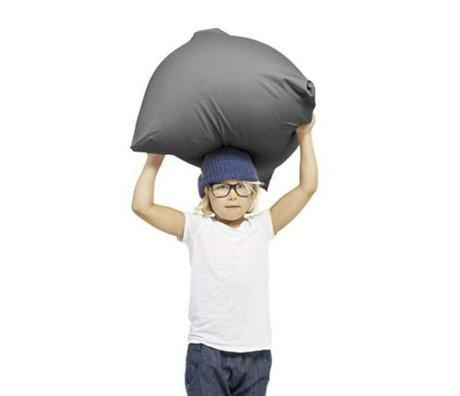 Terapy Kinderzitzak Sydney pyramide donker grijs katoen 60x60x60cm 130liter