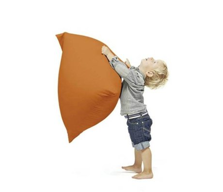 Terapy Children Beanbag Sydney pyramid orange cotton 60x60x60cm 130liter