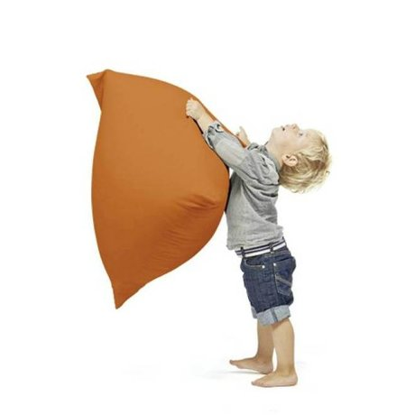 Terapy Kinderzitzak Sydney pyramide oranje katoen 60x60x60cm 130liter