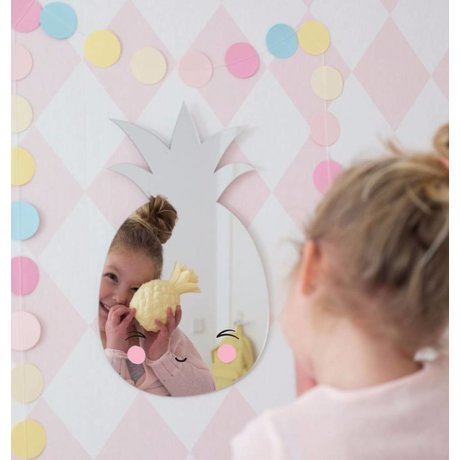 A Little Lovely Company Kinder tafellamp Ananas geel kunststof 15cm