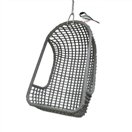 HK-living Kinderhangstoel grijs polyethyleen 77x55x110cm