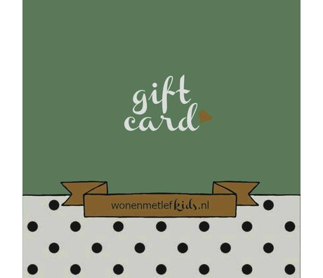 LEF collections wonenmetlefkids.nl gift voucher € 1000