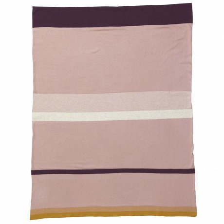 Ferm Living kids Little Baby Blanket Stripe pink cotton 80x100cm
