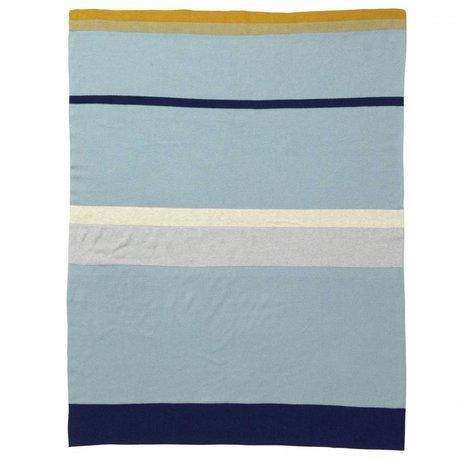Ferm Living kids Little Baby Blanket Stripe blue cotton 80x100cm