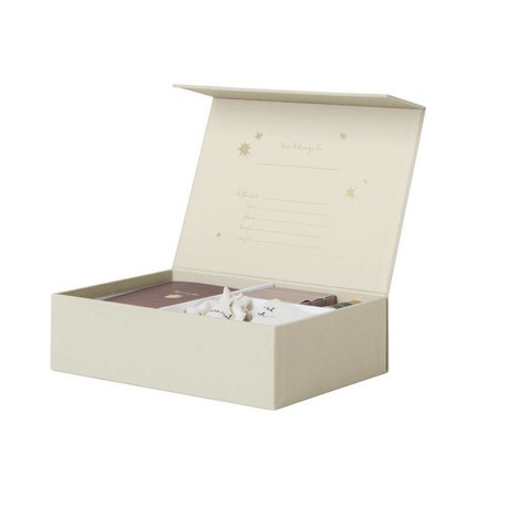 Ferm Living kids Memory box The beginning of my life creme karton  25x18x7cm