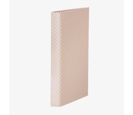 Ferm Living kids Ringband map roze wit karton 25x31,5cm