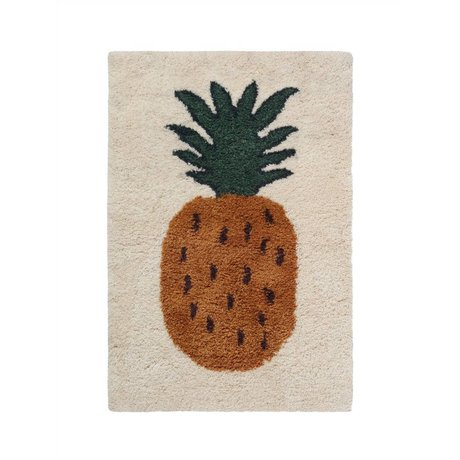 Ferm Living kids Rug Fruiticana Pineapple multicolor textile S 120x80cm
