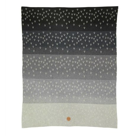 Ferm Living kids Children's blanket Little Gradi gray cotton 80x100cm