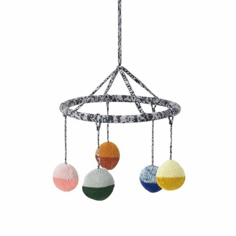 Ferm Living kids Mobile Ball multicolor cotton ø18cm