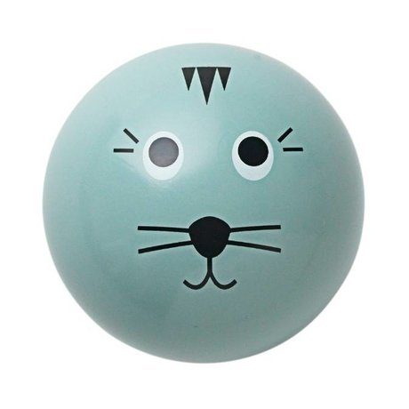 Ferm Living kids Wandhaakje 'Cat Hook' blauw hout ø5cm