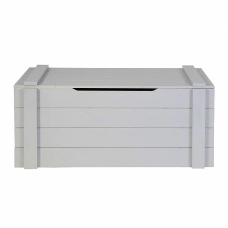 LEF collections Kinderopbergkist Dennis betongrijs geborsteld grenen 42x90x42cm