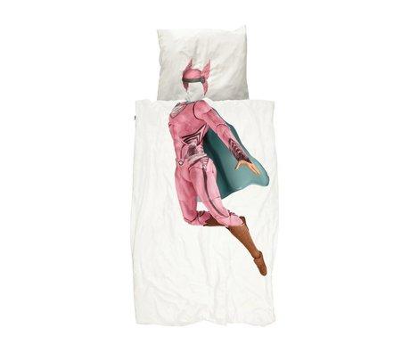 Snurk Beddengoed Kinderdekbedovertrek Superhero roze 140x200/220cm