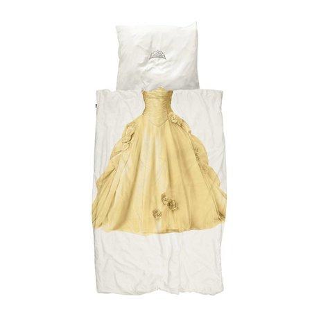 Snurk Beddengoed Kinderdekbedovertrek Princess geel 140x200/220cm