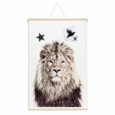 Groovy Magnets Kindermagneetposter leeuw vinyl met ijzerdeeltjes 62x95cm