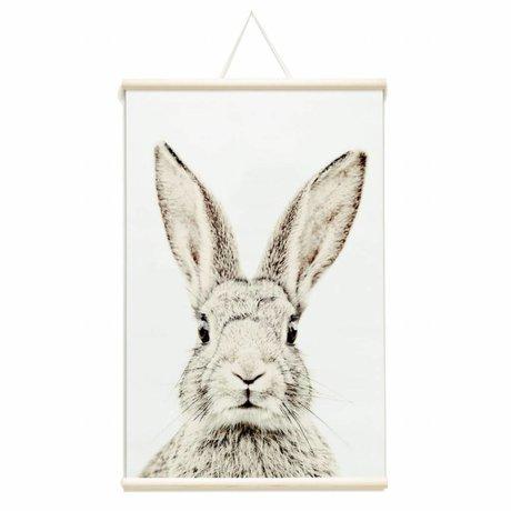 Groovy Magnets Kindermagneetposter konijn vinyl met ijzerdeeltjes 62x95cm