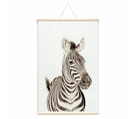 Groovy Magnets Magnetic poster zebra vinyl with iron particles 62x95cm
