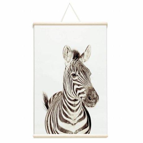 Groovy Magnets Kindermagneetposter zebra vinyl met ijzerdeeltjes 62x95cm