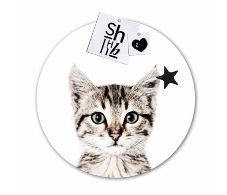 Groovy Magnets Kinder magnet sticker cat self-adhesive vinyl with iron particles ø60cm