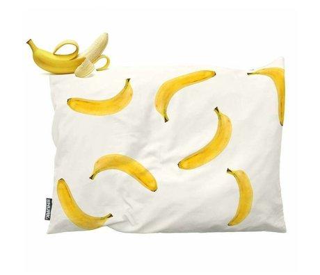 Snurk Beddengoed Kinderkussen Banana Monkey geel katoen 35x50cm
