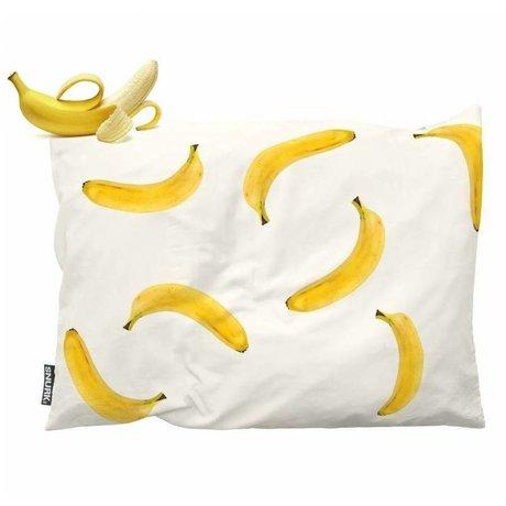 Snurk Beddengoed Children's pillow Banana Monkey yellow cotton 35x50cm