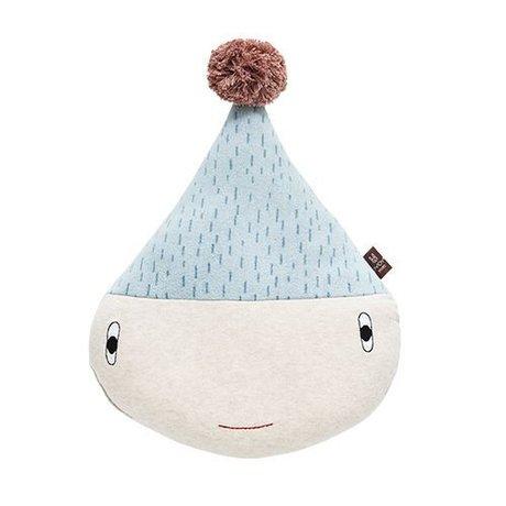 OYOY Children's pillow Rainy blue cotton 40x29x11cm
