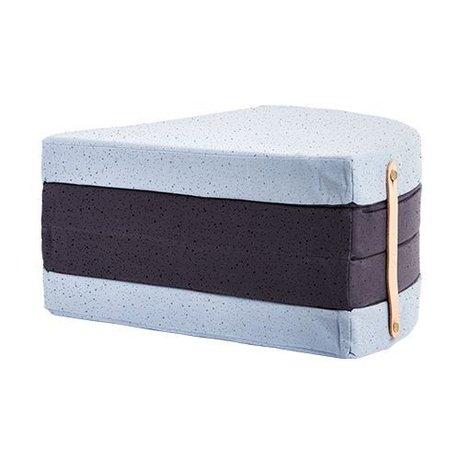 OYOY Children's mattress a piece of cake blue black cotton ø118cm