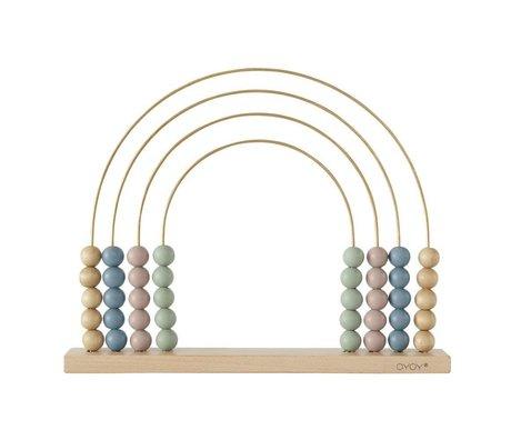 OYOY Abacus Rainbow wood 33x26,5cm