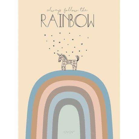 OYOY Kinderposter Rainbow multicolour 50x70cm