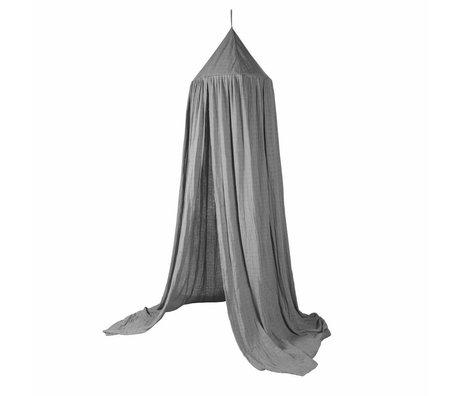 Sebra Bedhemeltje grijs katoen ø52cmx240cm