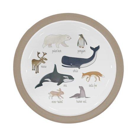 Sebra Children's board Arctic animals light brown melamine ø21,5x2cm