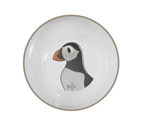Sebra Children's bowl Arctic animals light brown melamine ø15,5x6cm