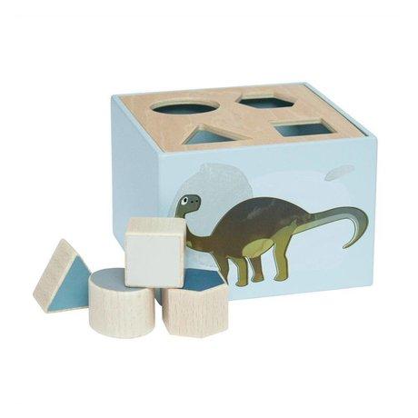 Sebra Shapes puzzle Dino blue wood 14x14x10cm