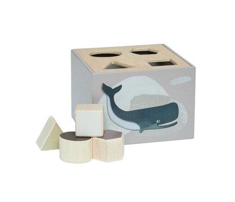 Sebra Shape puzzle Arctic animals natural wood 14x14x10cm