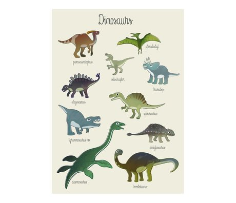 Sebra Kinderposter Dino multicolour papier 50x70cm