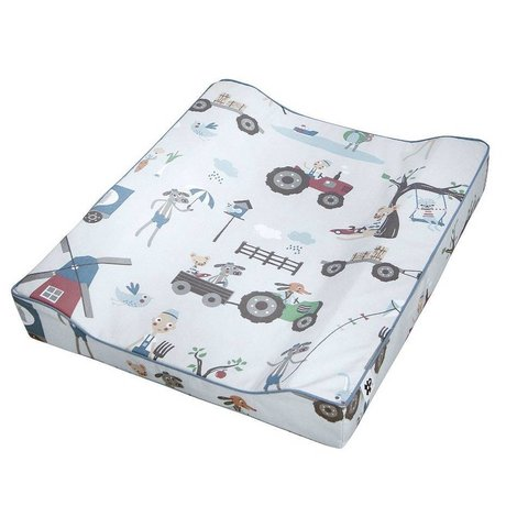 Sebra Changing pad Farm boy blue cotton 64x52x8,5cm