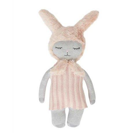 OYOY Hug Hopsi bunny pink gray 47x24cm