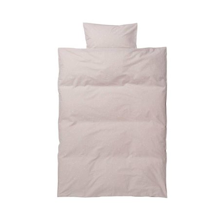 Ferm Living kids Children's bedding Hush Milkyway light pink cotton 70x100cm-46x40cm