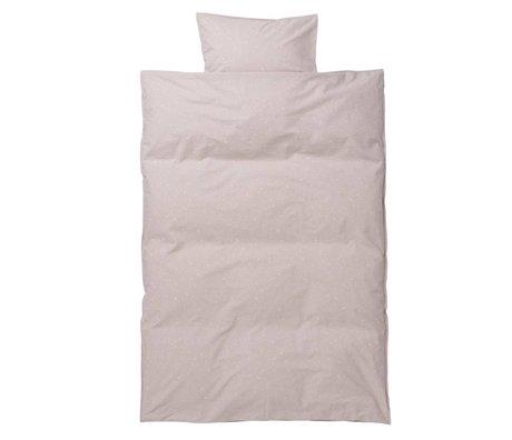Ferm Living kids Children's bed linen Hush Milkyway light pink cotton 110x140cm-46x40cm