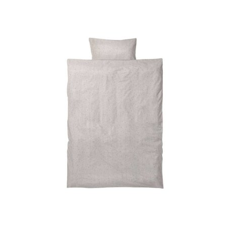 Ferm Living kids Children's bed linen Hush Milkyway cream cotton 70x100cm-46x40cm