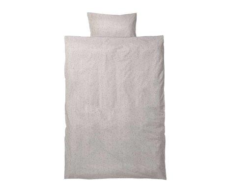 Ferm Living kids Children's bed linen Hush Milkyway cream cotton 110x140cm-46x40cm