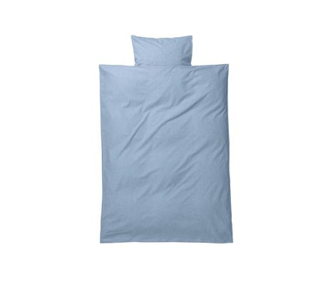 Ferm Living kids Children's bed linen Hush light blue cotton 70x100cm-46x40cm